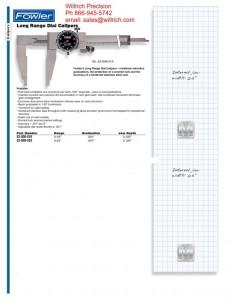 Fowler Extended Range Dial Caliper