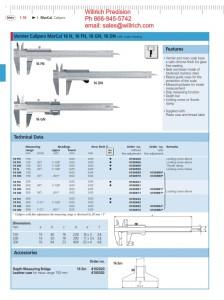 Mahr Federal Vernier Caliper MarCal 16FN, 16DN, 16GN