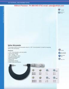 Brown and Sharpe Spline Micrometer Vernier Style