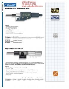 Fowler Digital IP54 Micrometer Head