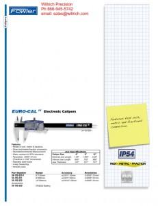 Fowler EURO-CAL IV Electronic Caliper