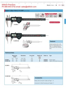 Mahr Federal 16 EWR Digital Pointed Caliper