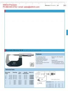Mahr Federal 40 AS Blade Micrometer