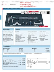 Mahr Federal MarCal 16 EWV Universal Digital Caliper