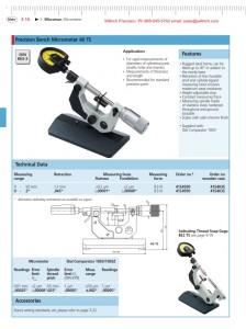 Mahr Federal Micromar Precision Bench Micrometer 40 TS