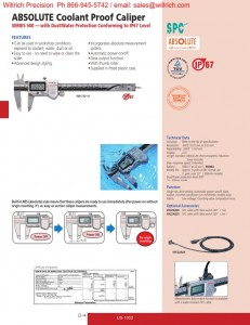 Mitutoyo ABSOLUTE Coolant Proof Caliper