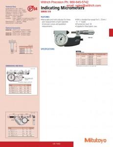 Mitutoyo Indicating Micrometer