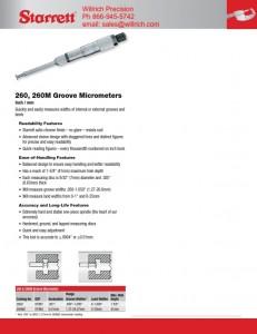 Starrett 260Z Groove Micrometer
