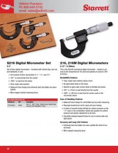 Starrett T216XRL Micrometer