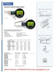 Fowler External Electronic Caliper Gage