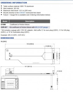 Mark-10 Coefficient of Friction Fixture