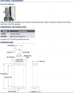 Mark-10 Syringe Compression