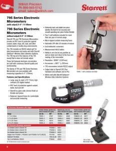 Starrett 795MEXFL IP67 Electronic Micrometer