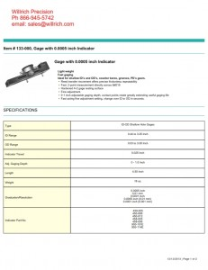 Dyer Gage ID-OD Shallow Diameter Gages 133 Series