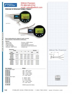 Fowler External Electronic Caliper Gages