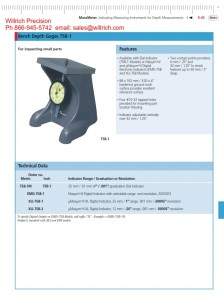 Mahr Federal MaraMeter Bench Depth Gages 75B-1