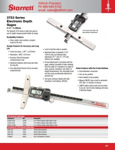 Starrett 3753A Electronic Depth Gage