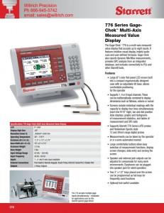 Starrett 776A Gage-Chek Multi-Axis, Measured Value Display