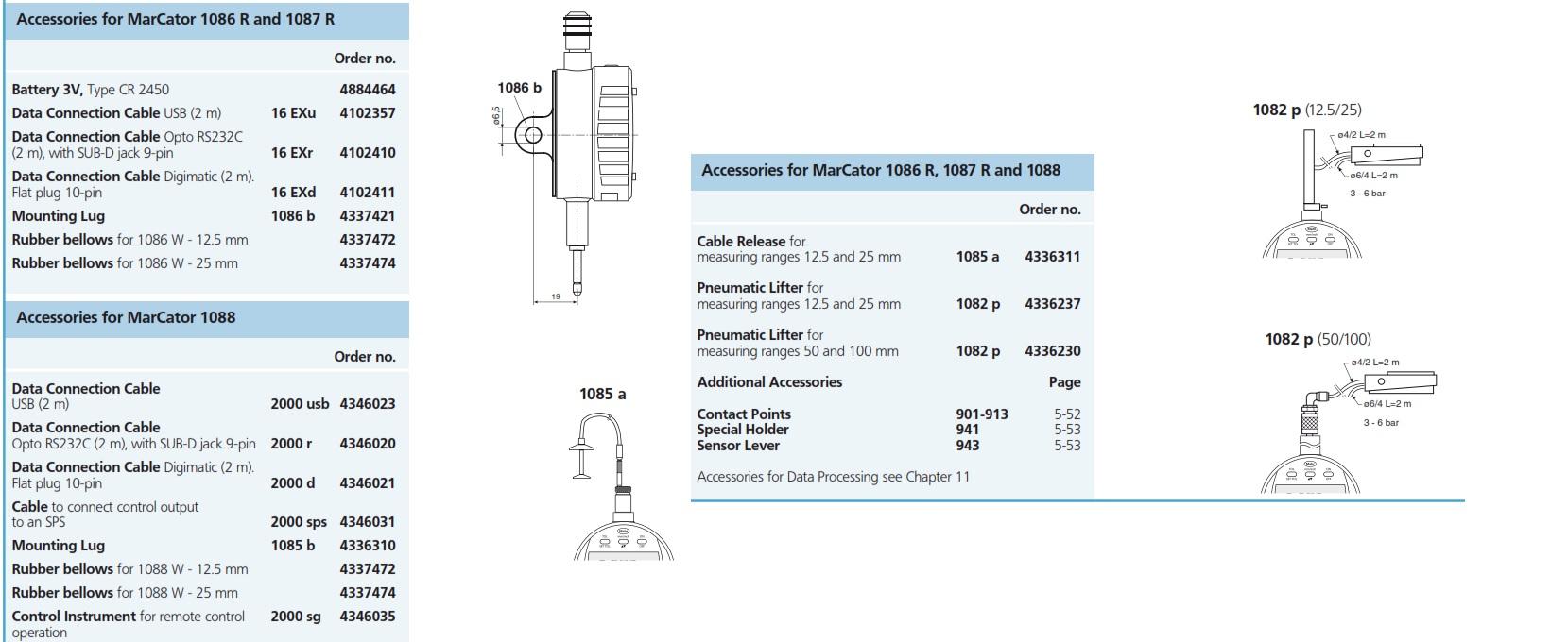 Mahr Federal MarCator 1086 WR Digital Indicator 4337140