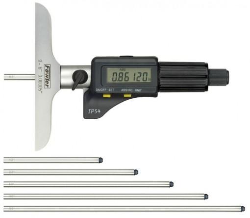 Fowler 54-225-456 Electronic Depth Micrometer IP54