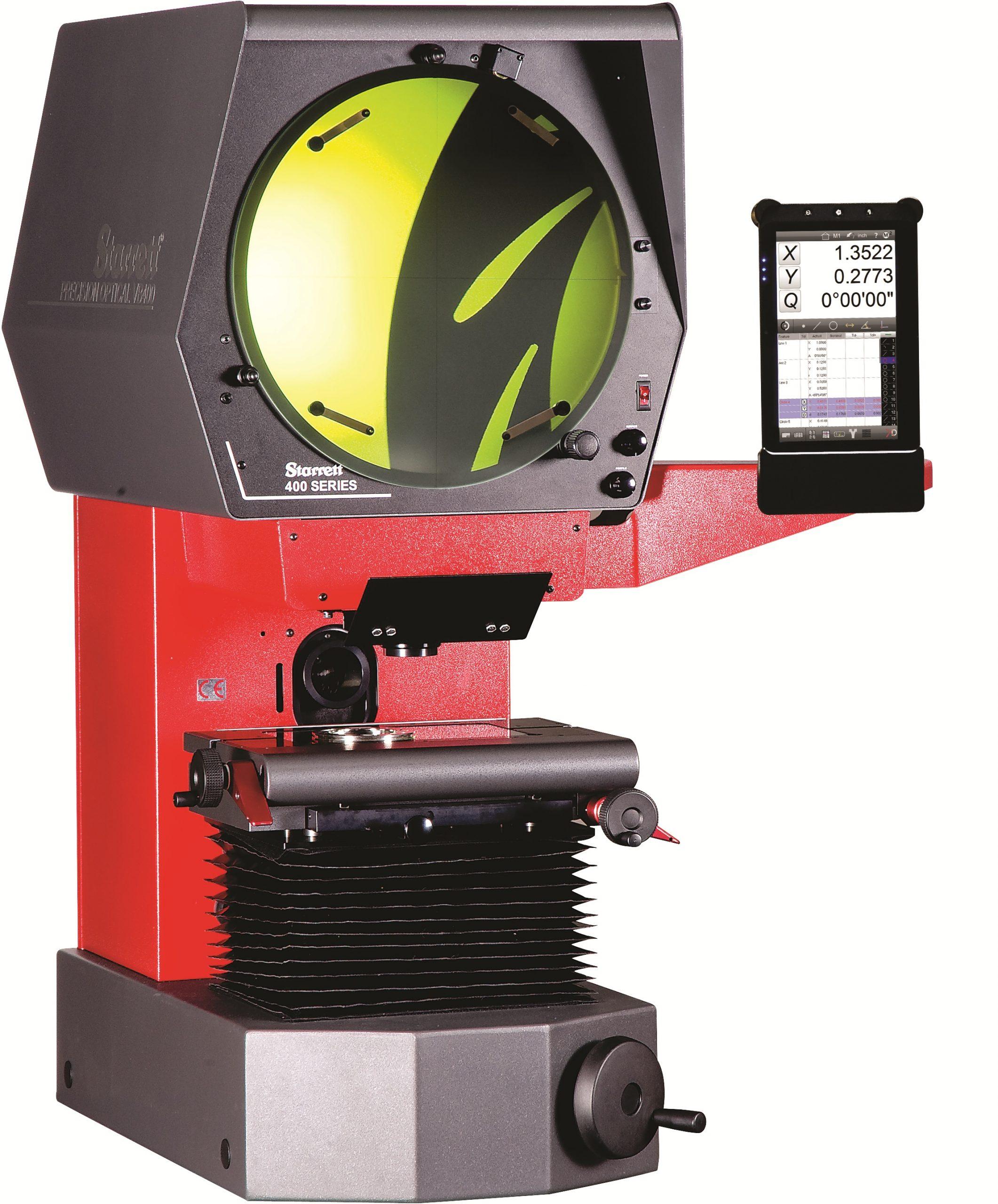 Starrett VB400, Bench Top Vertical Optical Comparator, 8 x 4 Travel