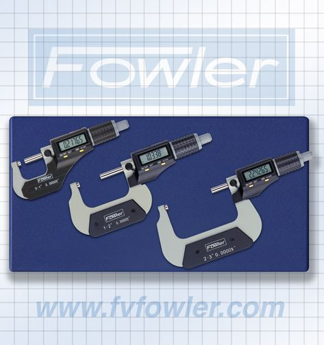 Fowler Xtra-Value II Electronic Micrometer Set 0-3″ / 100mm