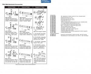 Fowler 53-190-012 Trimos Mini-Horizontal Length Measuring Instrument accessories