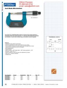 Fowler Blade Micrometer