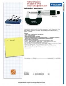 Fowler Micrometer Set
