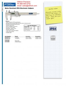 Fowler Water Resistant IP54 Electronic Caliper