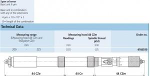 Mahr Inside Thread Micrometer Micromar 44C CZ Technical Specs