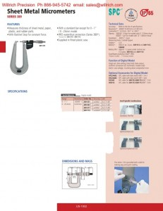 Mitutoyo Digimatic Sheet Metal Micrometer