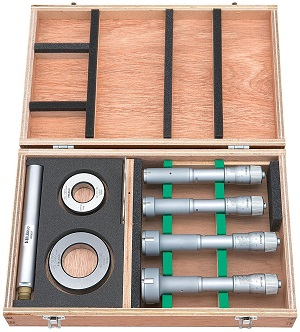 Mitutoyo Holtest Series 368-Three-Point Internal Micrometers Alloyed steel contact Sets