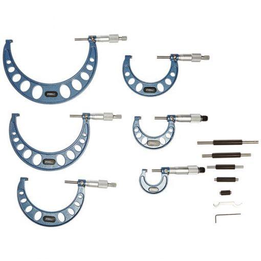 Fowler 6 Piece Inch Micrometer Set