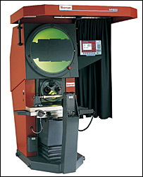 Starrett HF600 Floor Standing 24 INCH SCREEN Horizontal Optical comparator, 12 x 8 travel