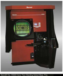 Starrett HS600 & HS750 Horizontal Floor Standing Side Bed Optical Comparators