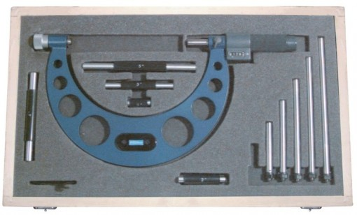 Fowler EZ-Read Interchangeable Anvil Micrometer