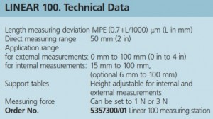 Mahr Federal Linear 100 Length Measuring Machine