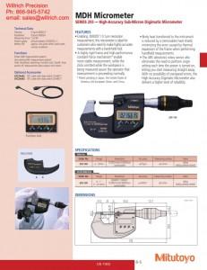 Mitutoyo MDH Sub-Micron Digimatic Micrometer