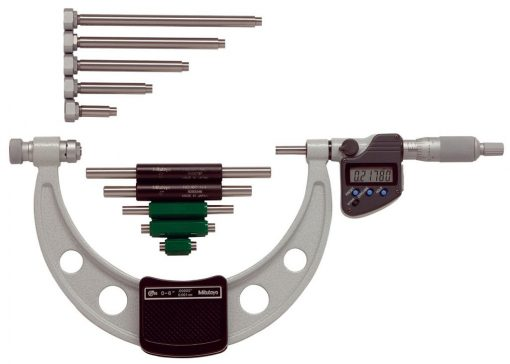 Mitutoyo Outside Micrometer with Interchangeable Anvils