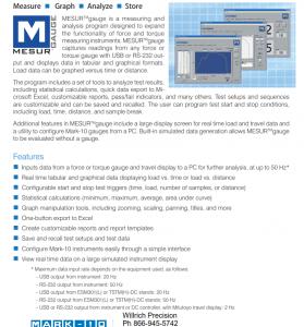 Mark-10 force gauge software