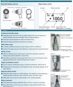 Tohnichi BTGE Digital Torque Gauge applications