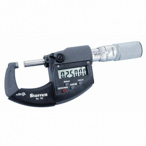 Starrett 795 Series IP67 Electronic Outside Micrometer