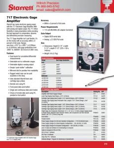 Starrett 717 Analog and Digital Output Amplifier