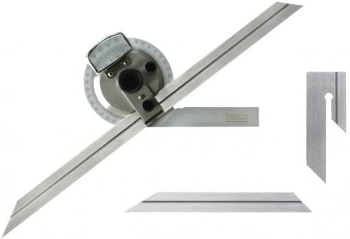 Fowler Bevel Protractor with 6 12 Blades