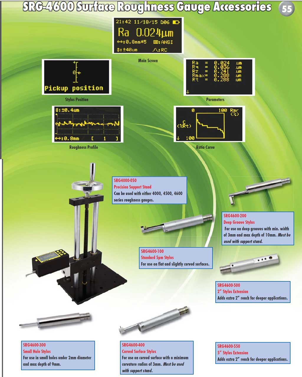 Phase II SRG-4600 surface roughness tester Tester