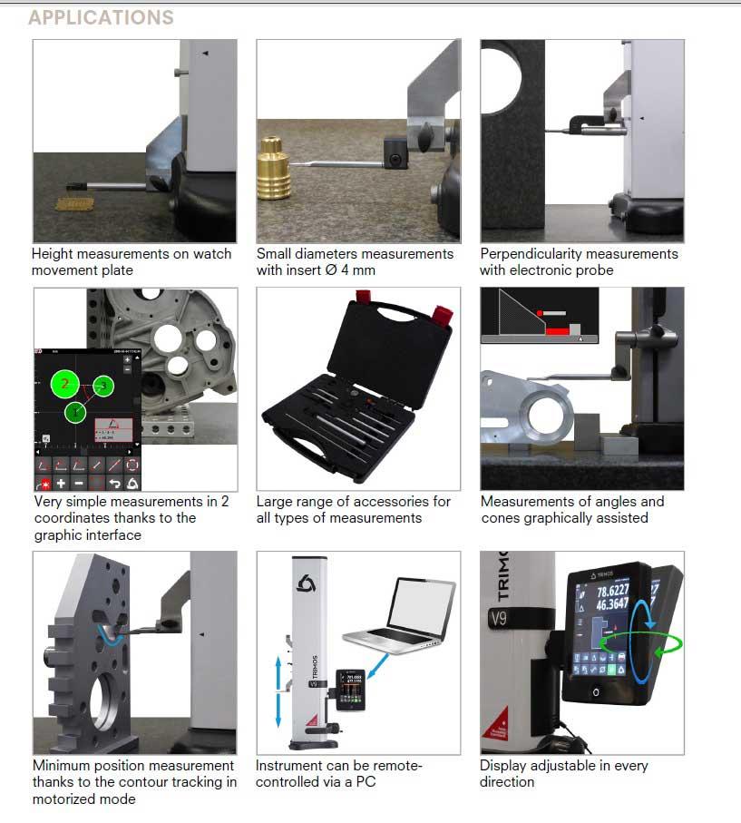 Fowler Trimos V9 Applications