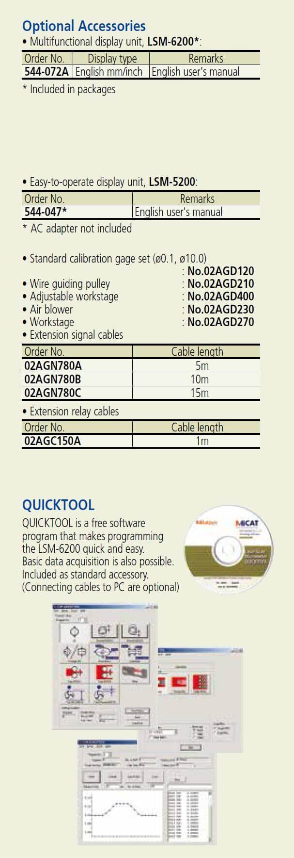 mitutoyo lsm-501s laser micrometer