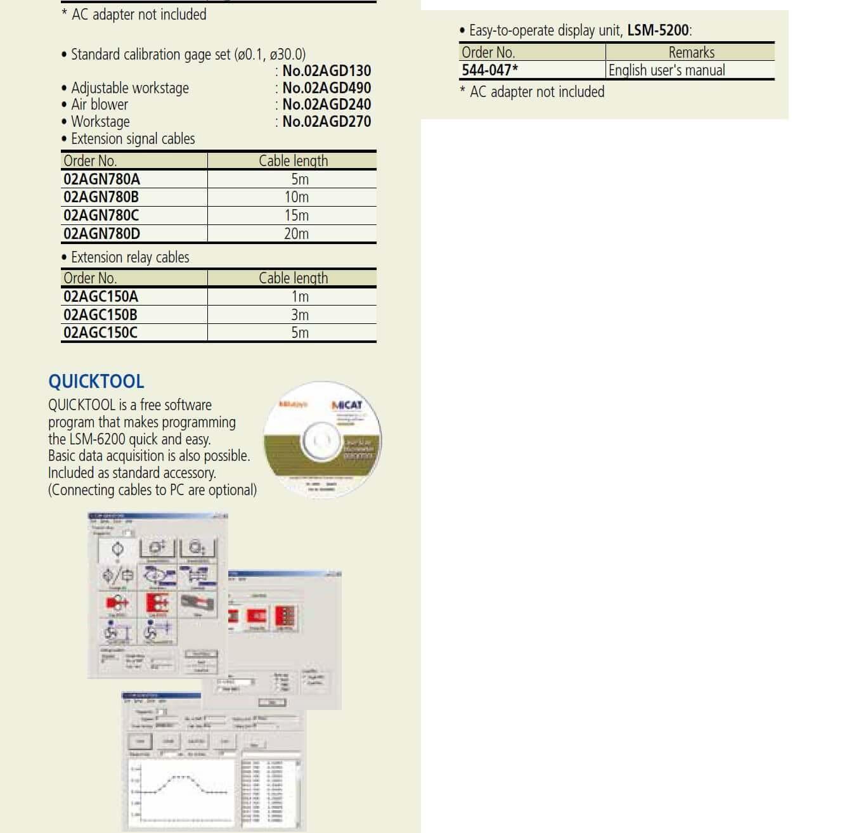 mitutoyo laser micrometer lsm-503s