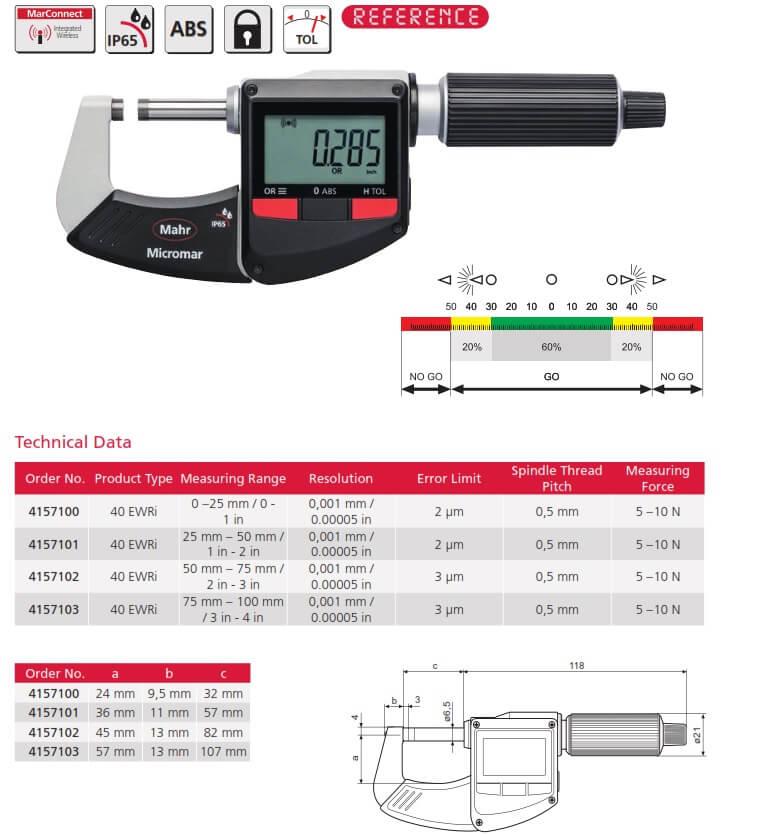 mahr 40 EWRi digital micrometer